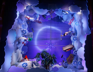 saks holiday window